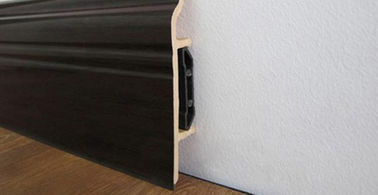 Interior Waterproof Skirting Board PVC ,  Laminate Floor Skirting Trim