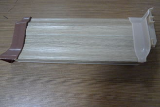 High Impact Resistant PVC Laminate Flooring Skirting Board 500G / M Anti - Insect