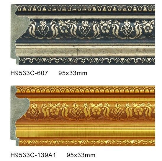 Durable PS Frame Moulding Plastic Baseboard Trim Skirting Board Profiles ผู้ผลิต